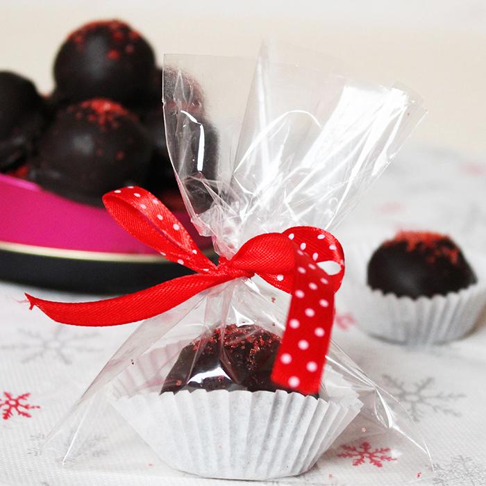 Cioccolatini ripieni fragole e spumante