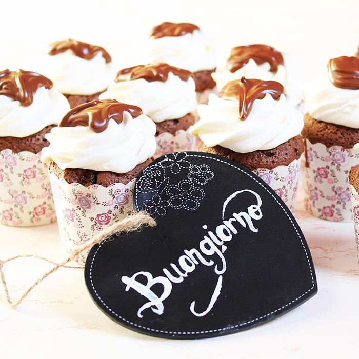 Cupcake cuor di nutella