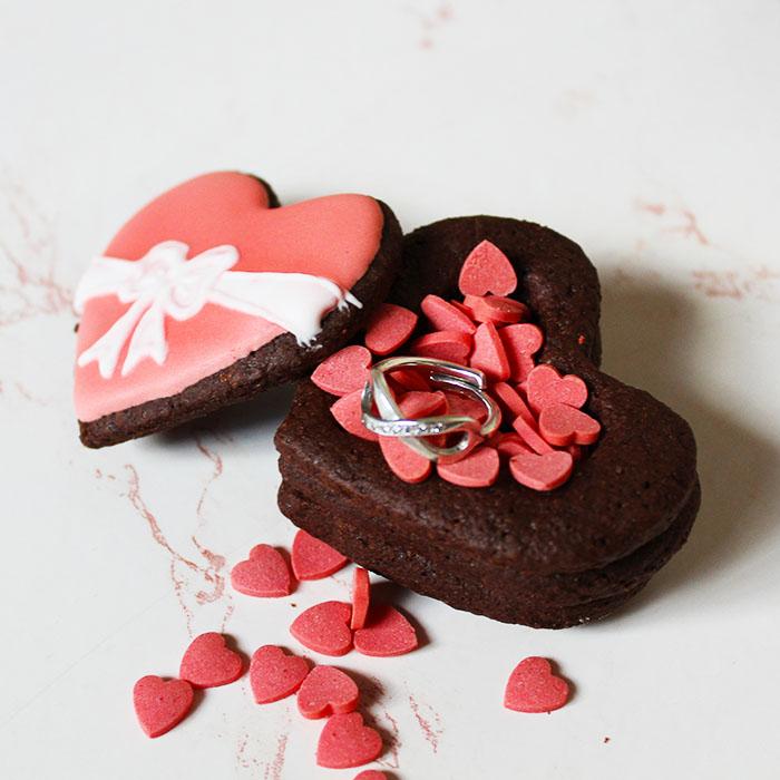 Scatoline di biscotti per San Valentino