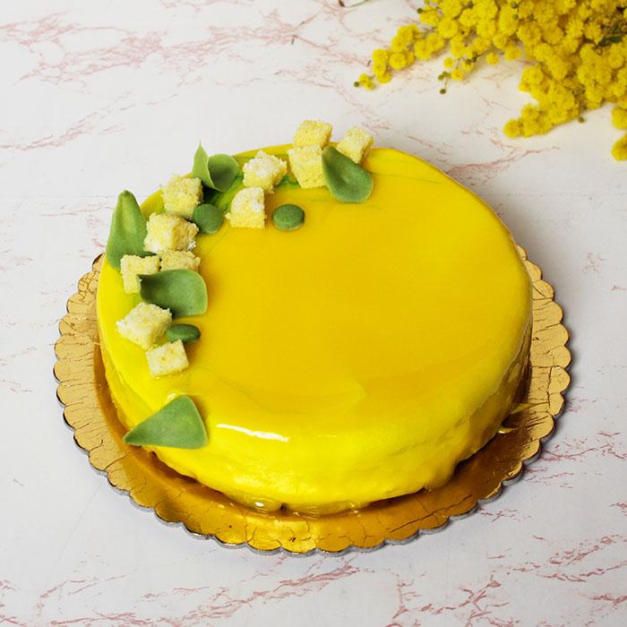 Torta mimosa moderna marypopcake - Decorazioni torte con glassa ...