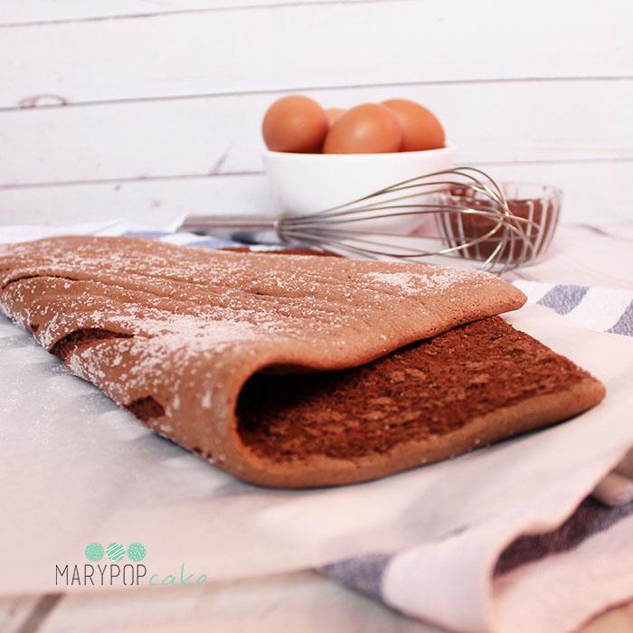 Pasta biscotto al cacao - per rotoli dolci